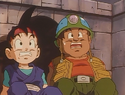 Goku Jr. and Puck Playing in the Goonies