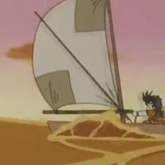 La canoa che Son Gohan costruisce per scappare da Piccolo.