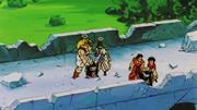 King Kai, Yamcha. Krillin, West Kai, Olibu and Pikkon sense the Kaioshin Realm in DBZ KAI 158
