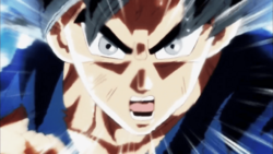 Son Goku gritando con la Doctrina egoísta -señal-