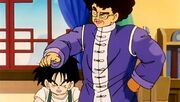 Mr.Shu making fun of Gohan's father