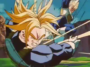 Vegeta colpisce Trunks