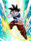 Dokkan Battle Miraculous Return Goku japanese card (Yardrat Outfit Base Goku R-SR)