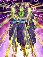 Dokkan Battle Sage from Universe 7 Piccolo card (Clone)