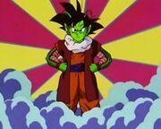 Goku fusionado con Dende