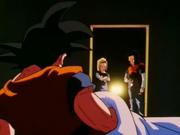 Goku vede l'arrivo degli androidi nel sonno