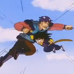 Sky Dragon vs Son Goku.