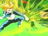 Trunks del Futuro Alternativo Super Saiyajin vs Cell del Futuro Alternativo
