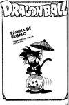 Página de regalo - Goku junto a la Esfera del Dragón