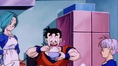 Gohan del Futuro comiendo como su padre
