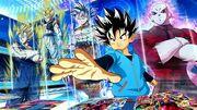 SDBH World Mission Hero Stadium Beat Promo Art Deck (Jiren, UI Goku, SSJ Gogeta, & SSJ Vegito)