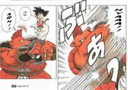 El Oso Ladron intentando golpear a Goku otra vez