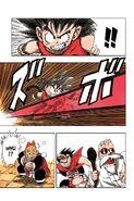 Goku dodges the kamehameha