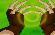 Videl creando una Esfera de Ki
