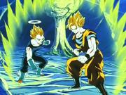 Goku e Vegeta nel corpo di Bu