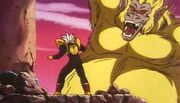 Goku Ozaru Dorado atacando a Baby