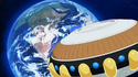 Sorbet's Spaceship about to enter the Earth by the end of DBS Episode 20 01