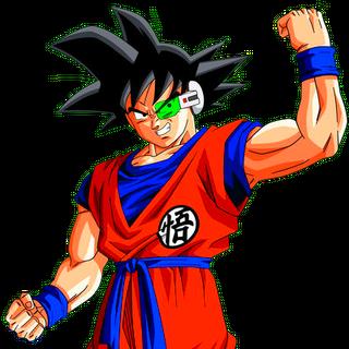 Ginew nel corpo di Goku