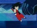 Goku dodging Major's fist