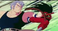 White atacando a Goku
