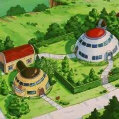 Le case di Goku e Gohan in Dragon Ball GT.