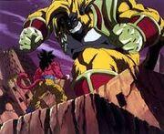 Goku Super Saiyan 4 vs Baby Vegeta Ōzaru Dorado (3)