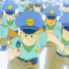 Un gruppo di poliziotti della città di Yahhoi.