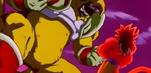 Fully-powered Super Saiyan 4 Goku faces Baby