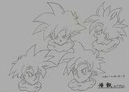 Sketch DBZ11 Gohan caras (SSJ)
