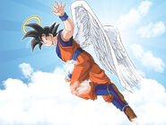 Goku angel wallpaper by link leob-d36sn2b