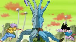Goten e Trunks finalmente luta Super