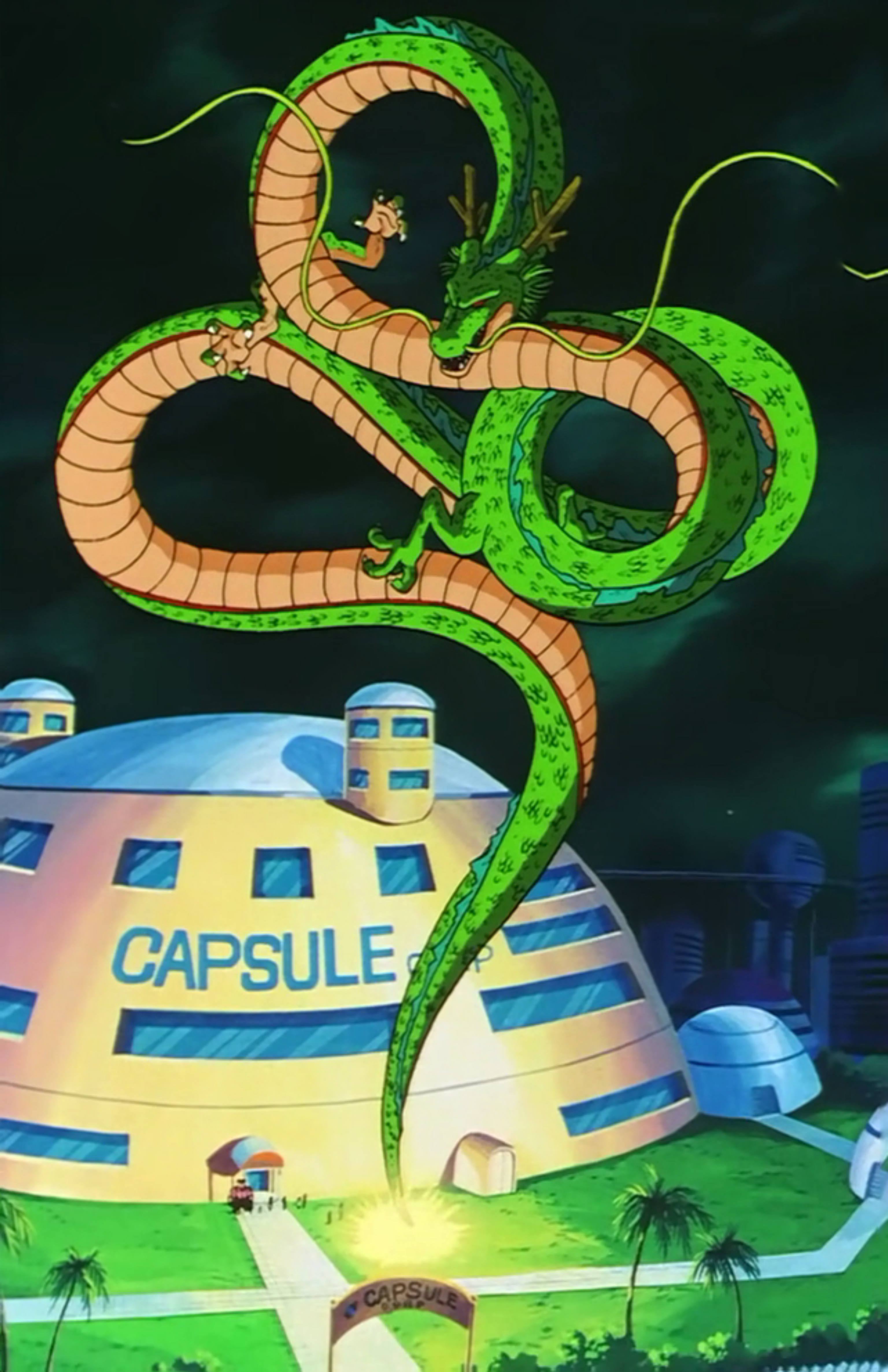 Shenron DBZ appearing to grant a wish.