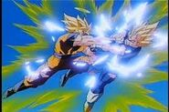 Goku en su batalla contra majin vegeta