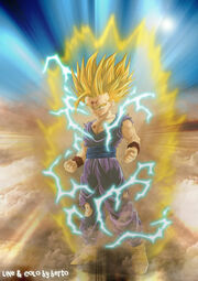 Dragon ball Z son gohan by ced by d