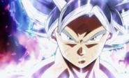Goku egoísta rostro