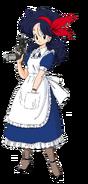 Launch traje de sirvienta en el manga