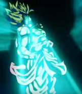 Super Saiyan Broly transforms