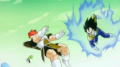 Vegeta strikes first