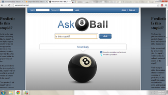 8AskBall being funny