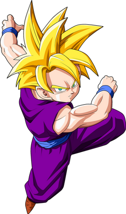Render Dragon Ball Gohan SSJ