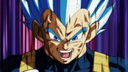 Super Saiyan Royal Blue Vegeta close up