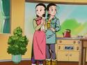 Chi-Chi and Videl during the Black Star Dragon Ball Saga
