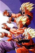 Goku-gohan-goten