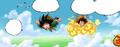 GokuFlies&LuffyOnNimbus(CE)