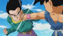 Gt goten block gt kid goku punch