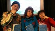 Masako Nozawa,Rōtarō Okiayu y Mayumi Tanaka