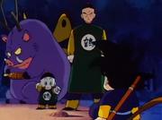 Tenshinhan e Jiaozi incontrano Goku per la prima volta