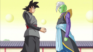 Goku Black propone una alianza con Zamas