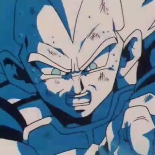 Vegeta dopo aver colpito Cell.