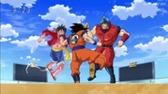 Goku vs Luffy y Toriko